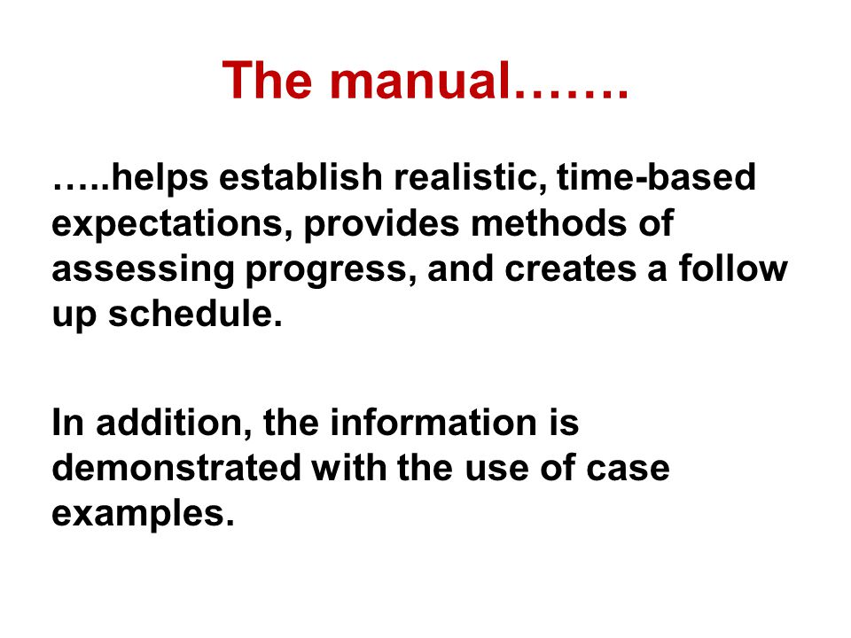 The manual…….
