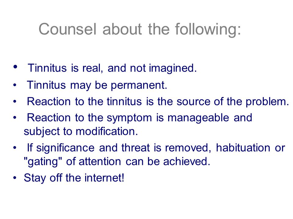 Counsel about the following: