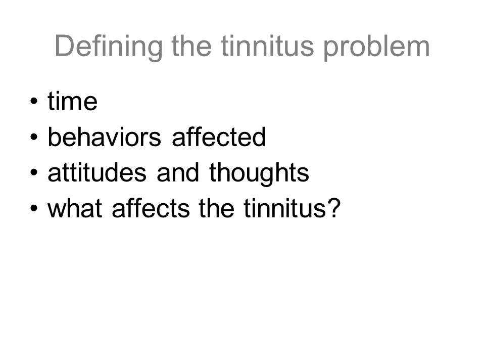 Defining the tinnitus problem