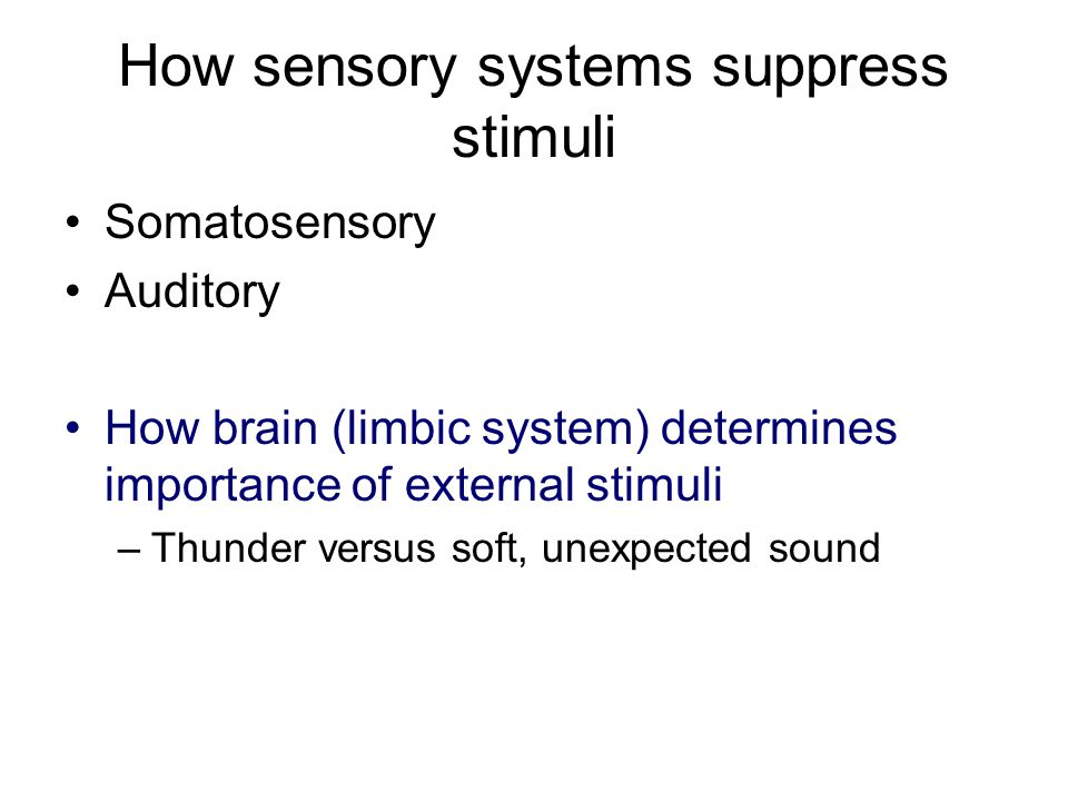 How sensory systems suppress stimuli
