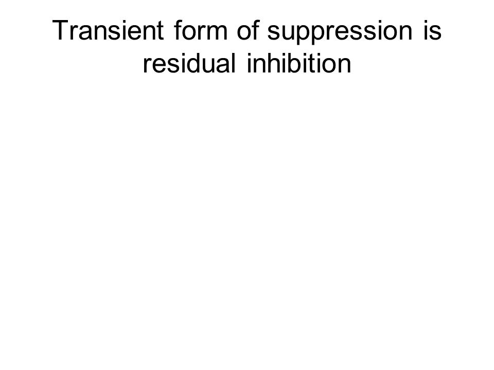 Transient form of suppression is residual inhibition