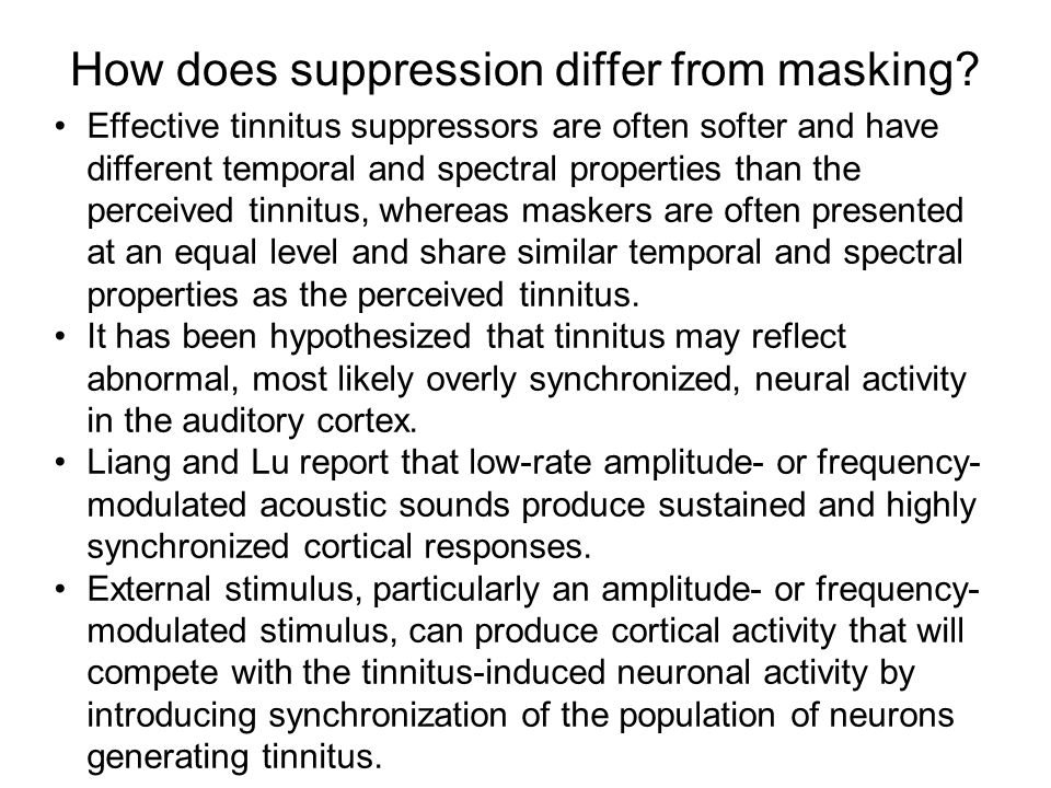 How does suppression differ from masking