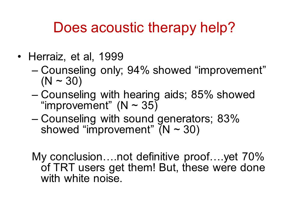 Does acoustic therapy help