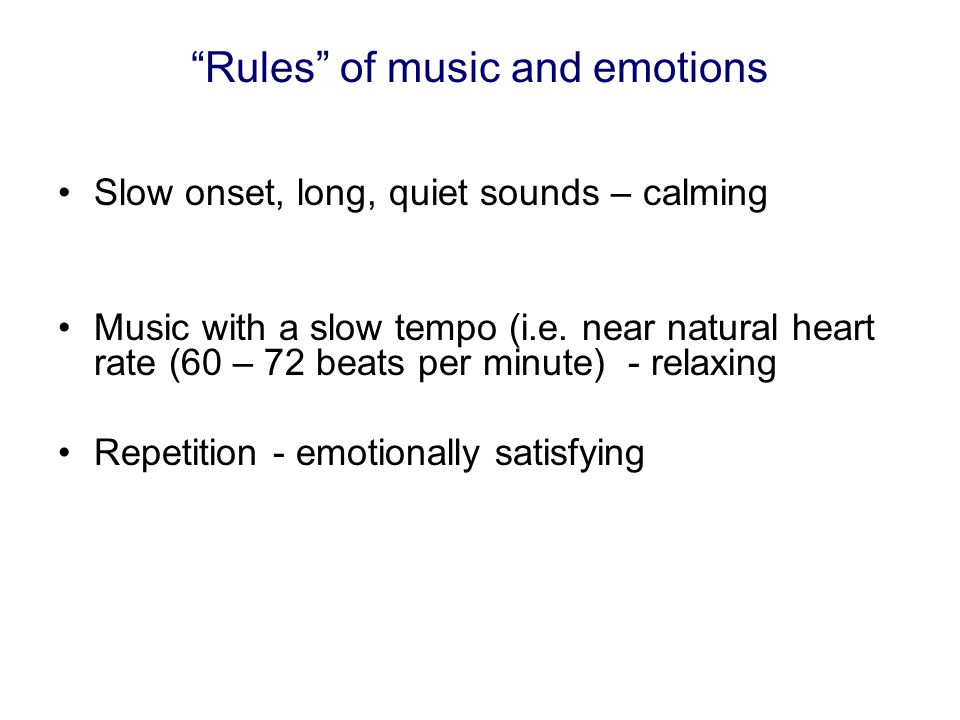 Rules of music and emotions