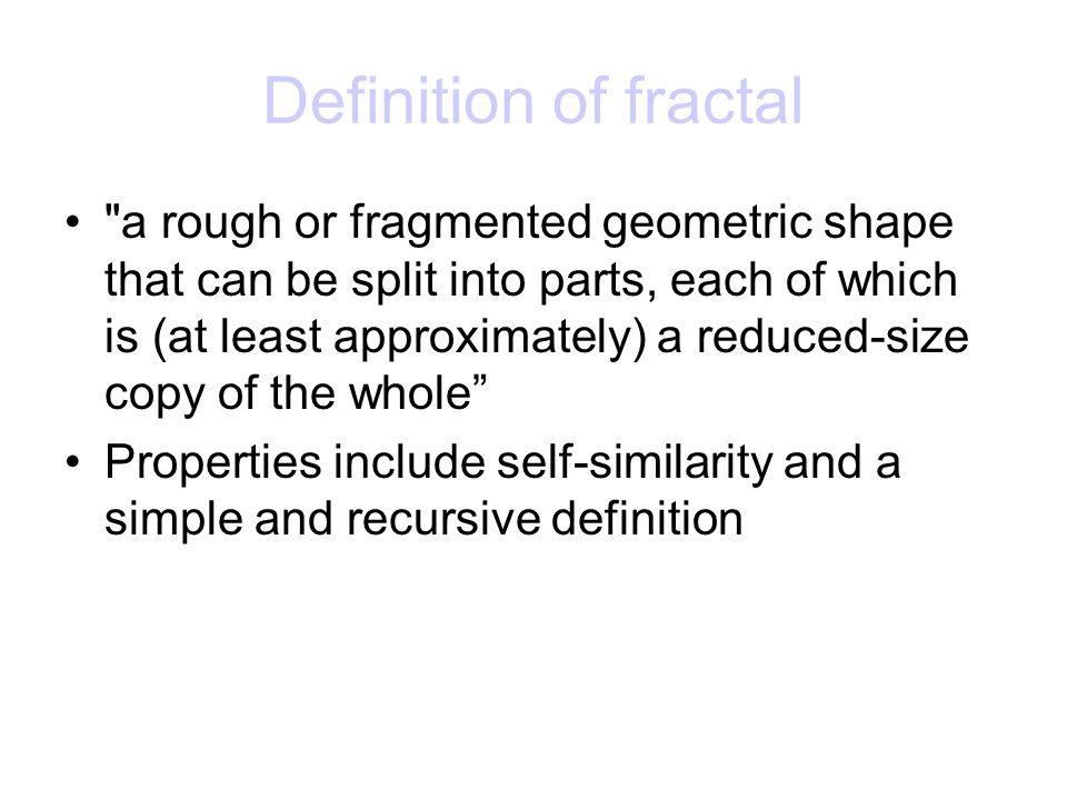 Definition of fractal