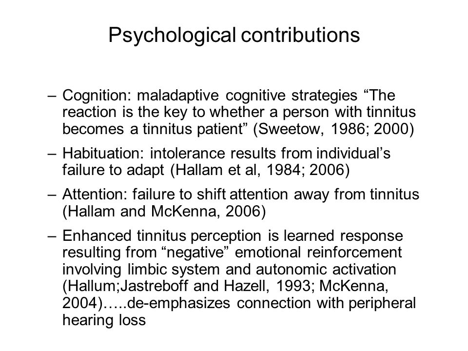 Psychological contributions