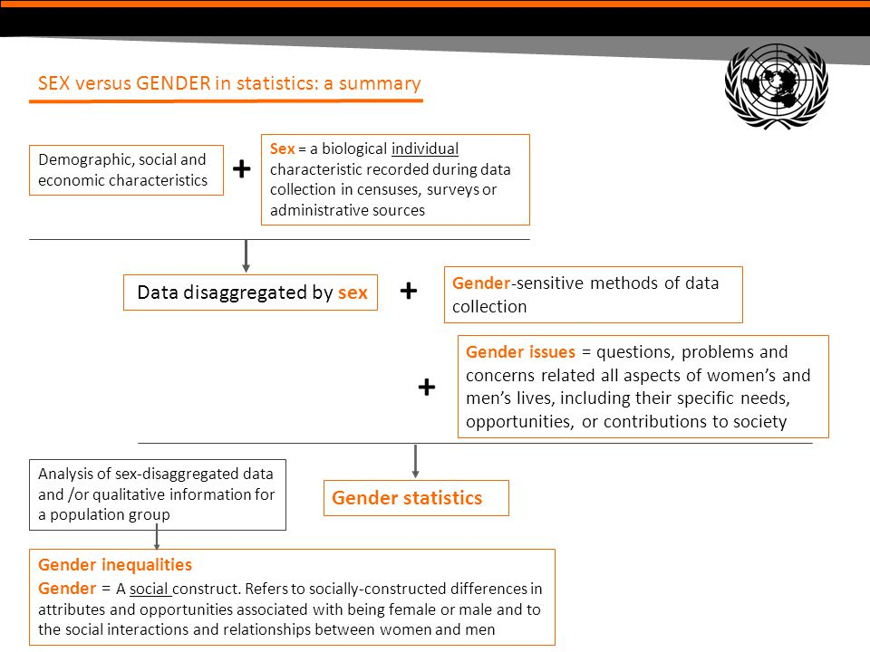 + SEX versus GENDER in statistics: a summary Data disaggregated by sex
