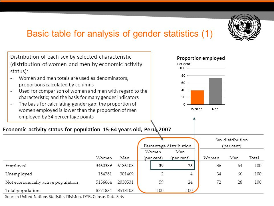 Basic table for analysis of gender statistics (1)