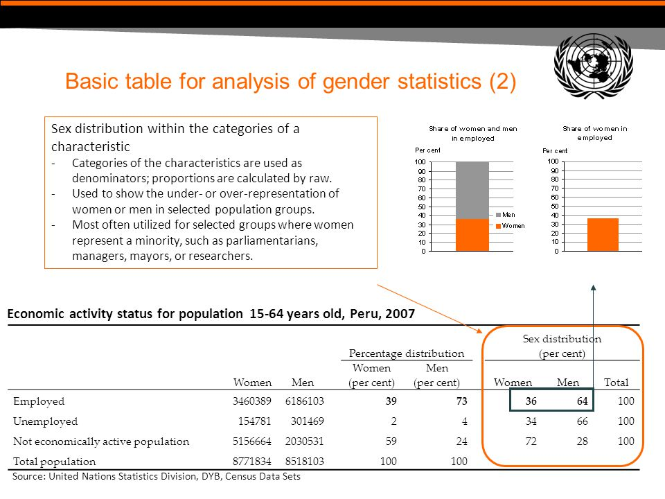 Basic table for analysis of gender statistics (2)