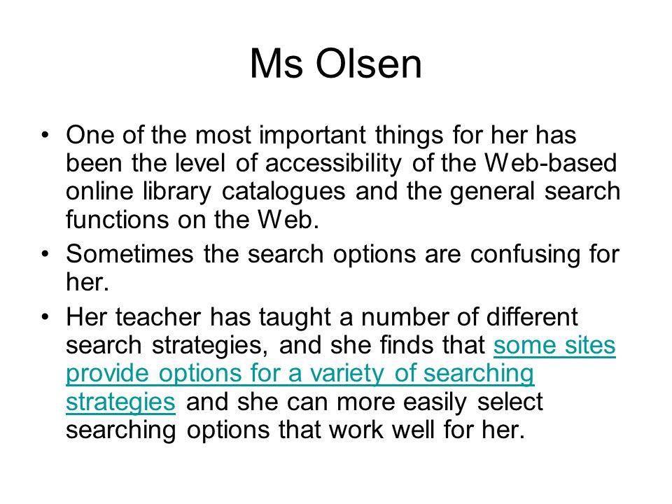 Ms Olsen