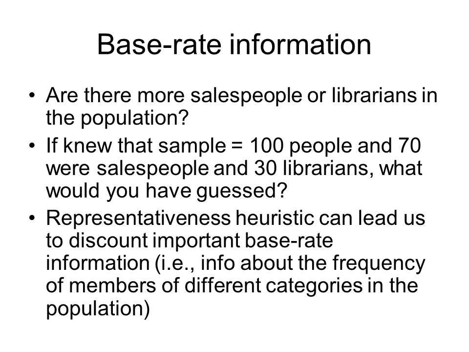 Base-rate information