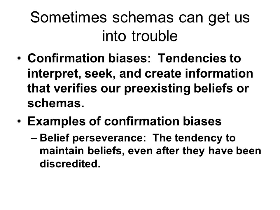 Sometimes schemas can get us into trouble
