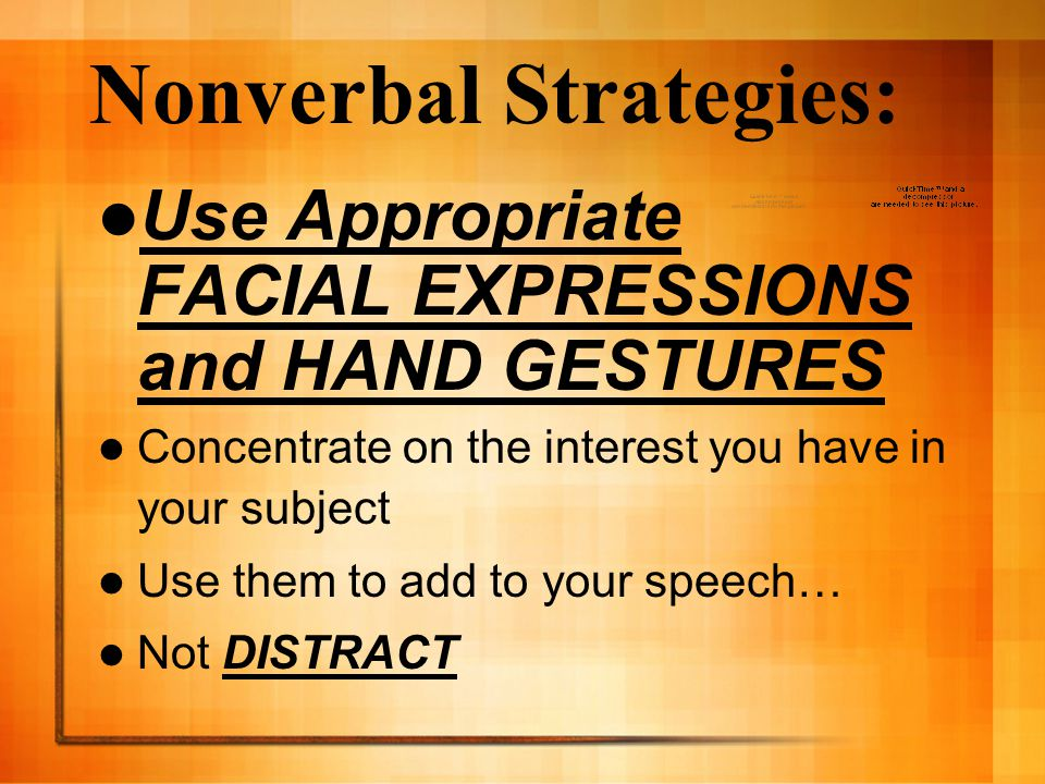 Nonverbal Strategies:
