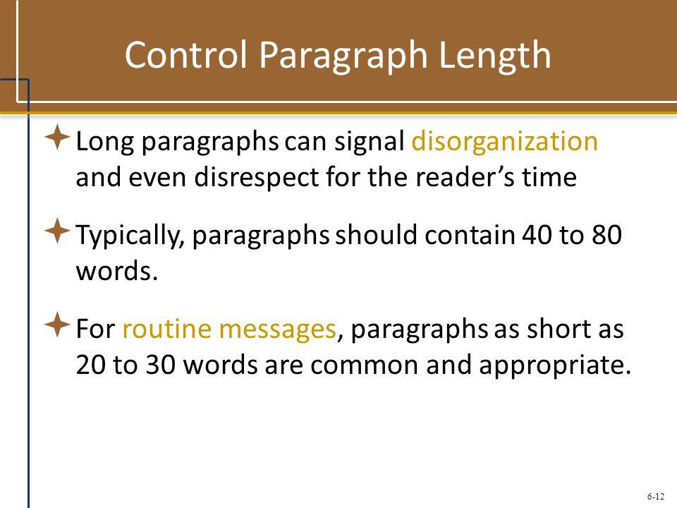 Control Paragraph Length