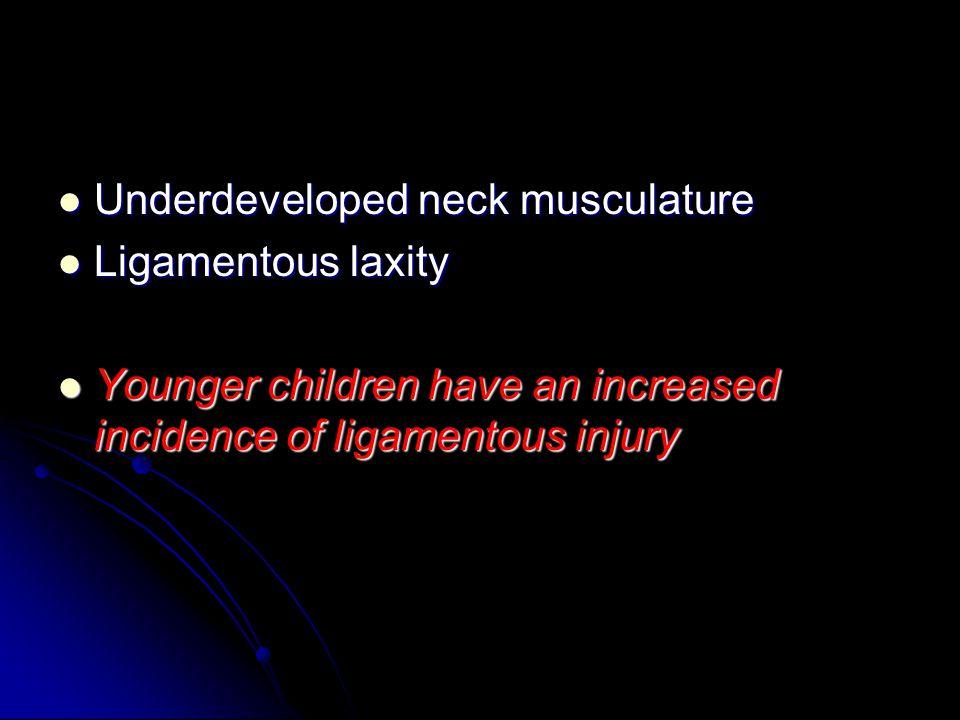 Underdeveloped neck musculature