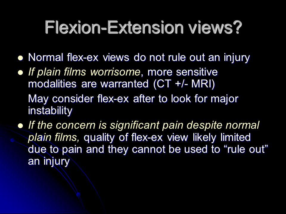 Flexion-Extension views