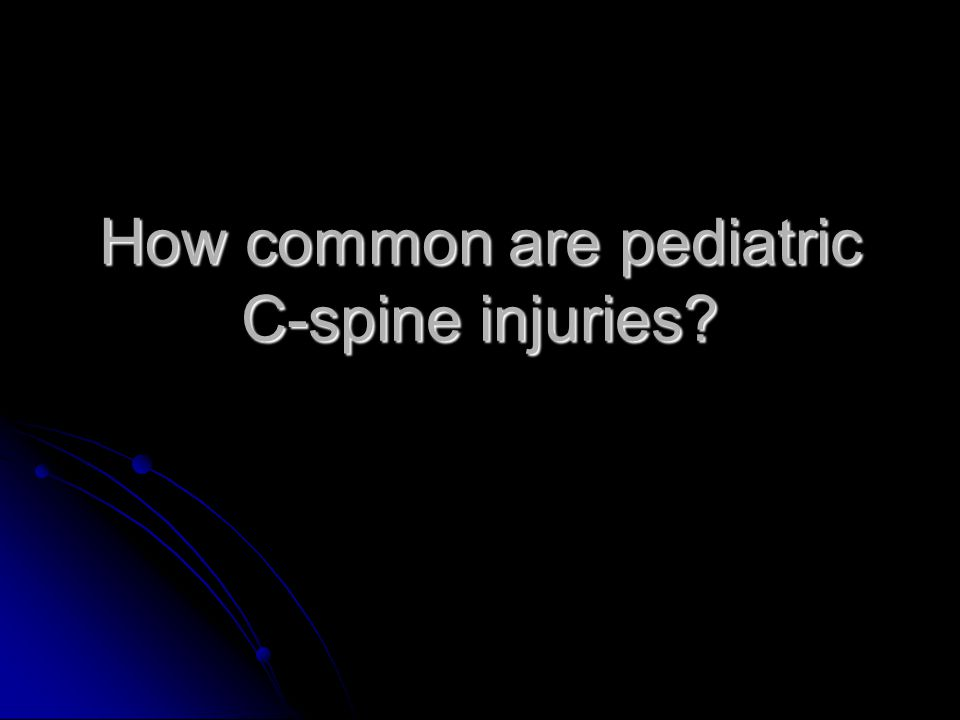 How common are pediatric C-spine injuries