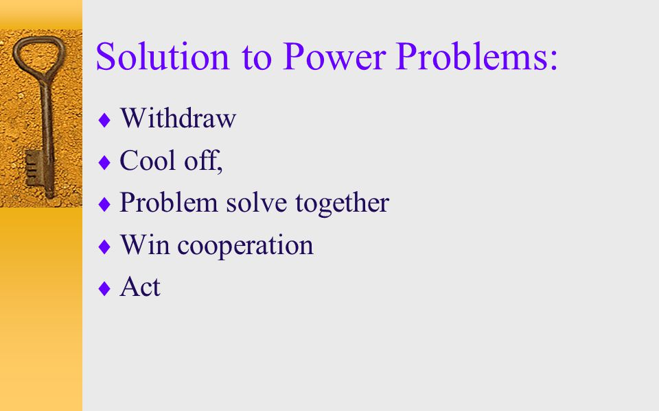 Solution to Power Problems: