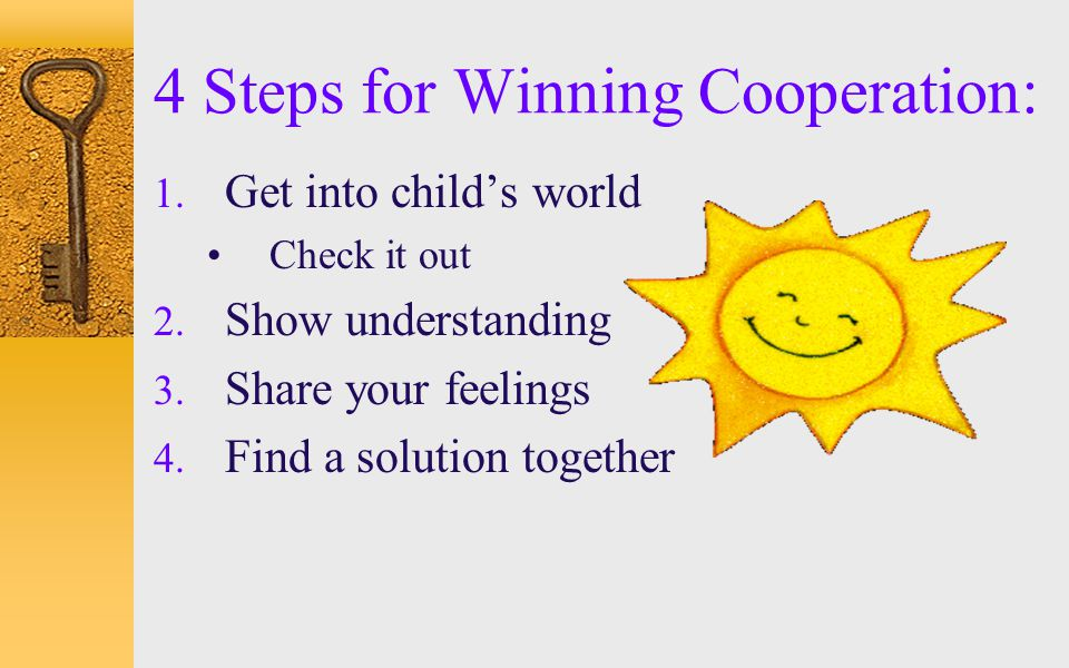 4 Steps for Winning Cooperation: