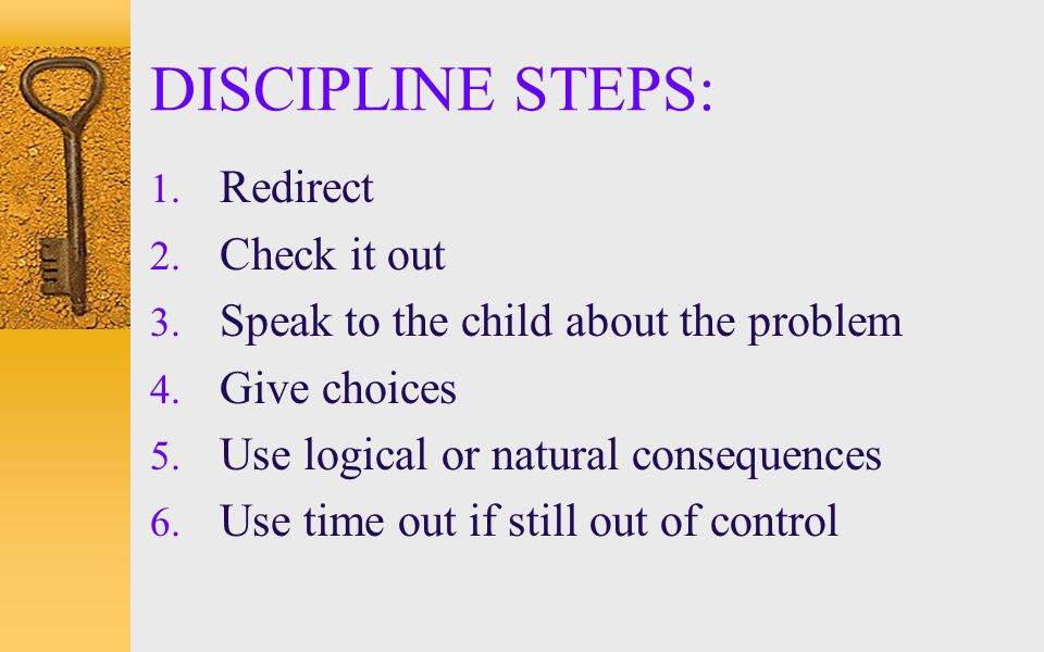 DISCIPLINE STEPS: Redirect Check it out