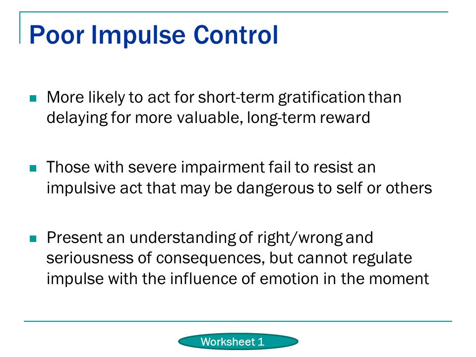 control adults for impulse Tips