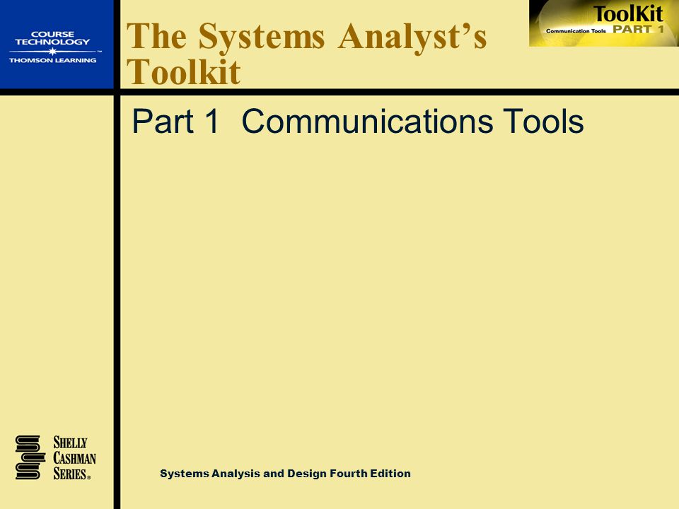 The Systems Analyst's Toolkit