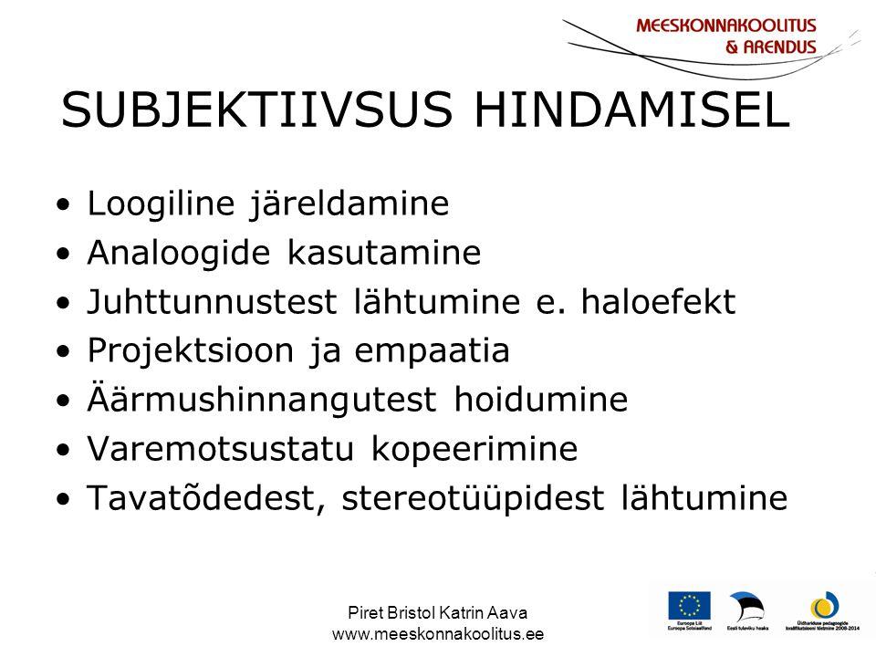 SUBJEKTIIVSUS HINDAMISEL