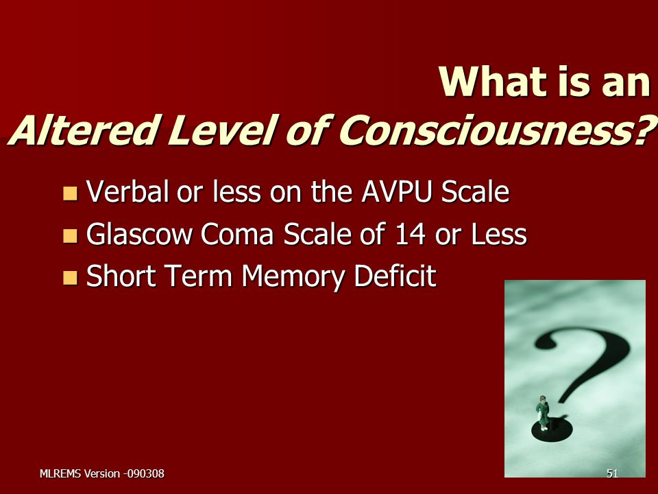 What is an Altered Level of Consciousness