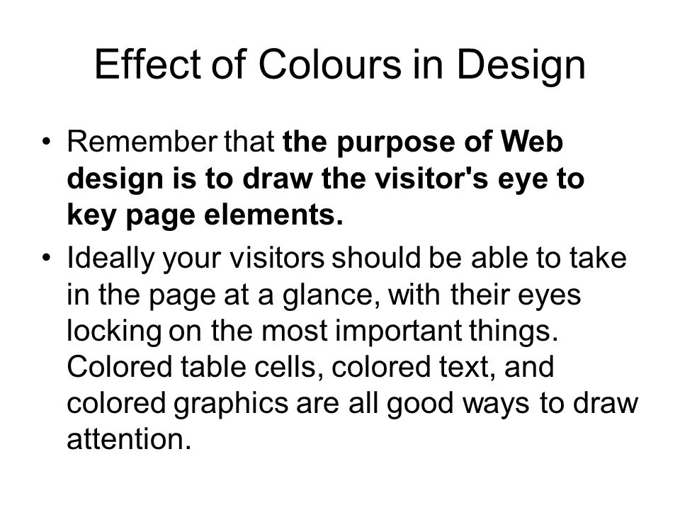 Effect of Colours in Design
