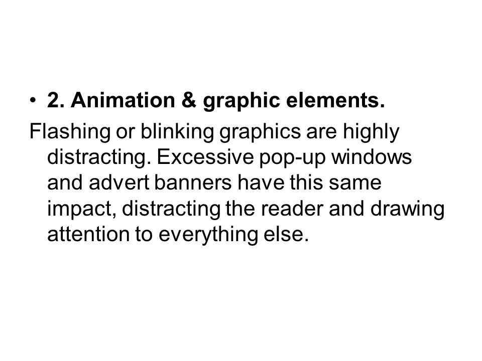 2. Animation & graphic elements.