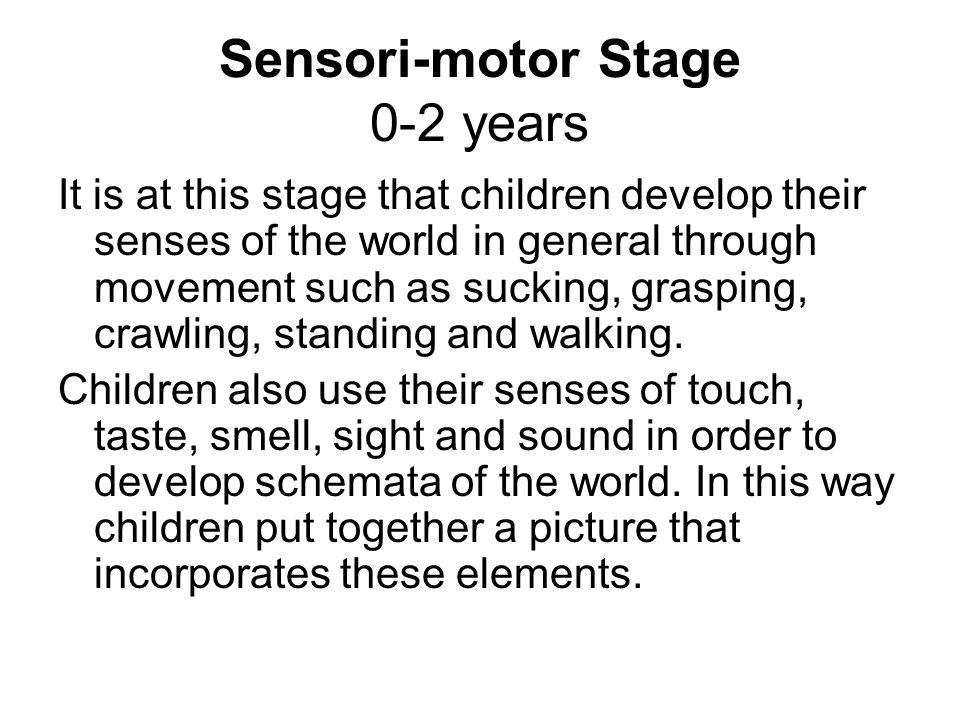 Sensori-motor Stage 0-2 years