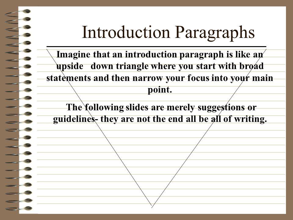 Introduction Paragraphs