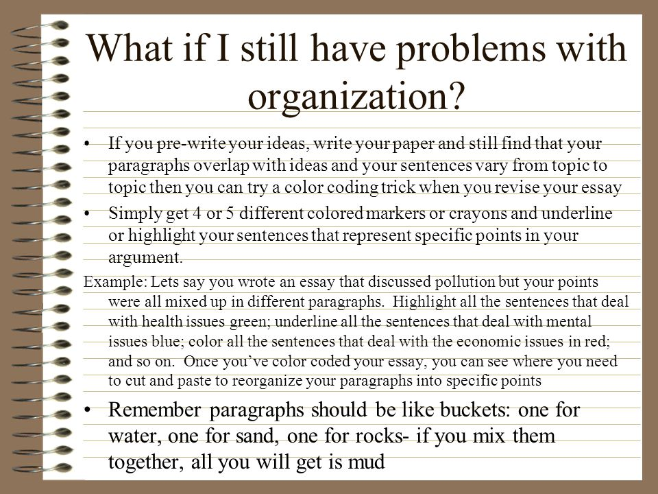 What if I still have problems with organization