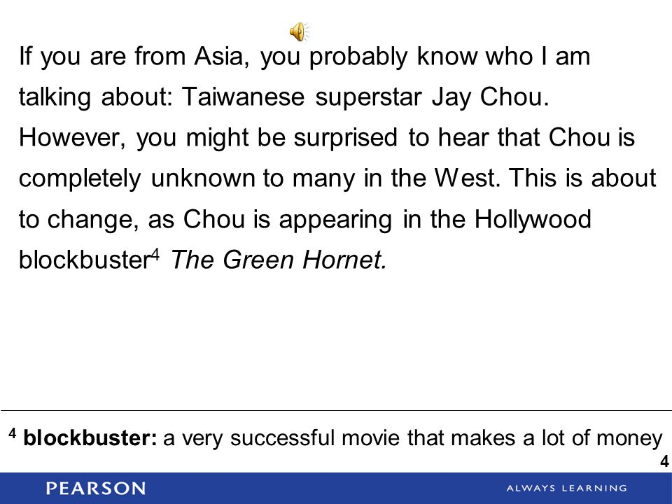 If you are from Asia, you probably know who I am talking about: Taiwanese superstar Jay Chou. However, you might be surprised to hear that Chou is completely unknown to many in the West. This is about to change, as Chou is appearing in the Hollywood blockbuster4 The Green Hornet.