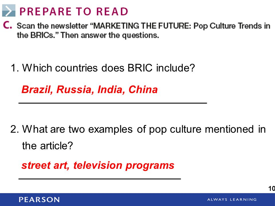 1. Which countries does BRIC include