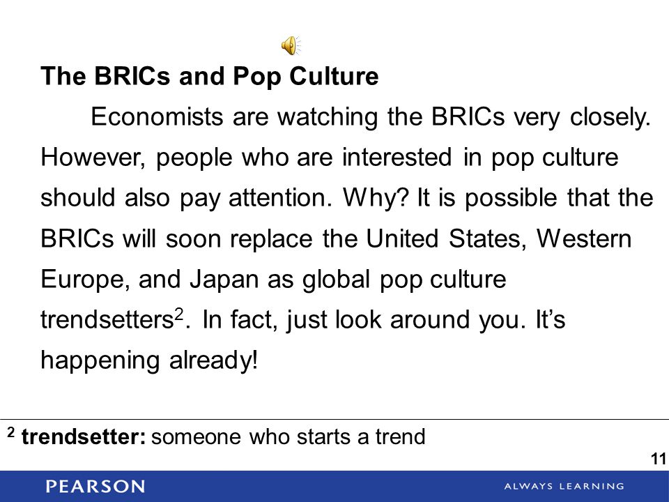 The BRICs and Pop Culture