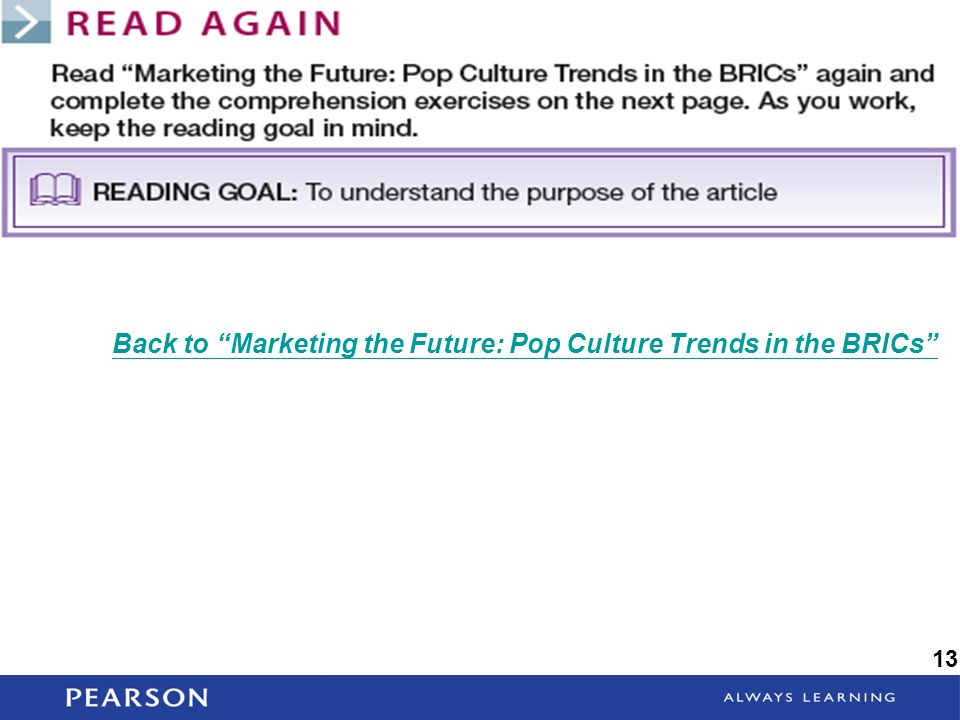 Back to Marketing the Future: Pop Culture Trends in the BRICs