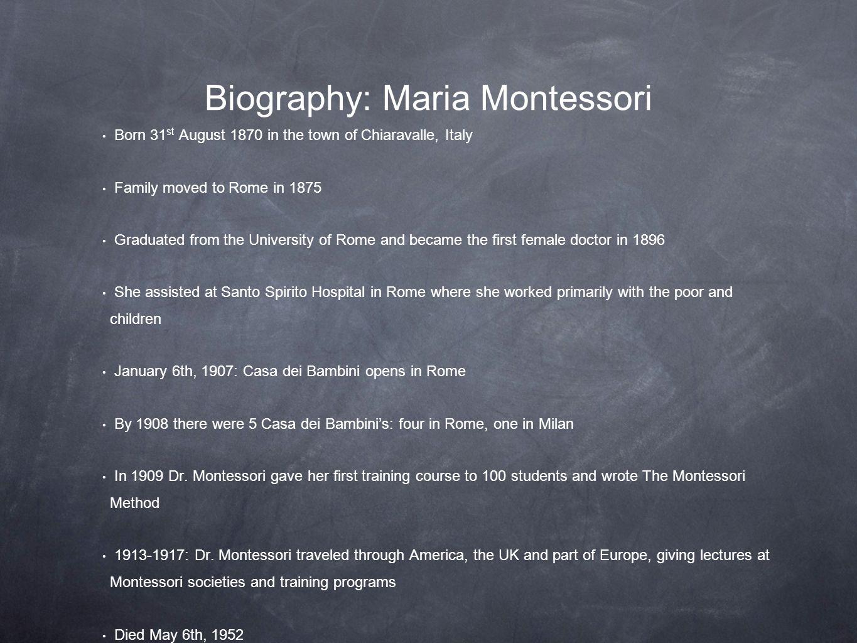Biography: Maria Montessori