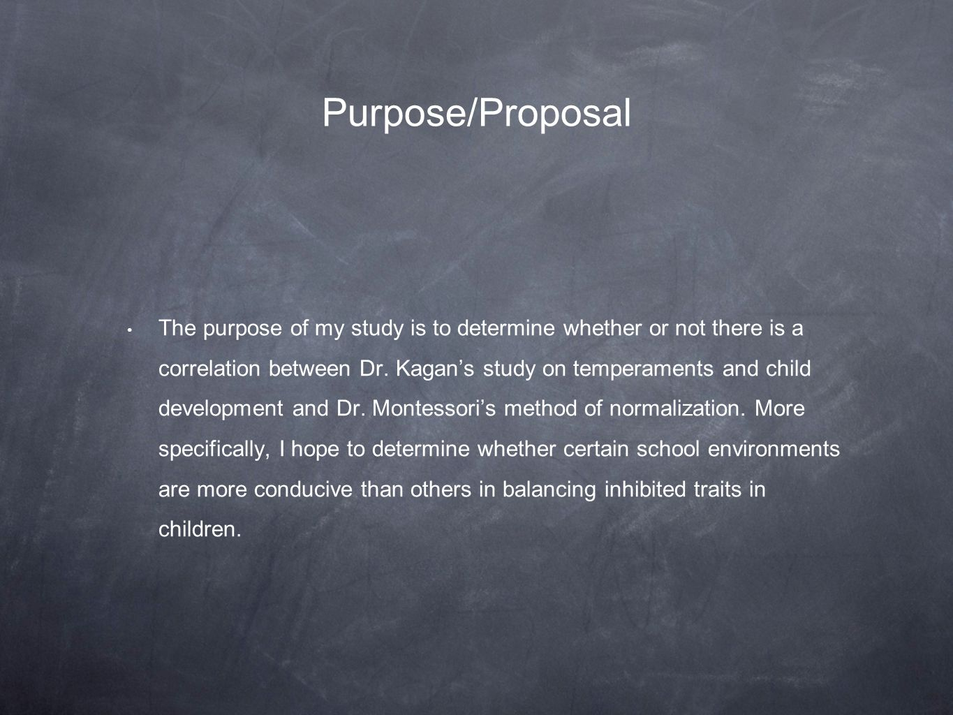 Purpose/Proposal