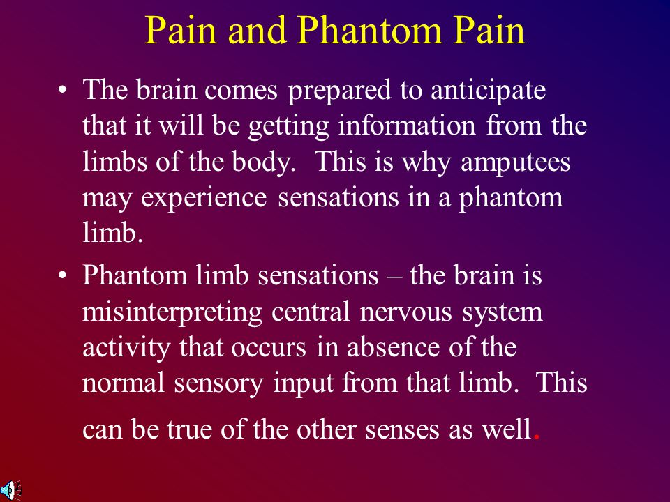 Pain and Phantom Pain