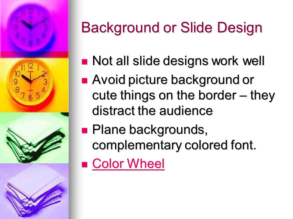 Background or Slide Design