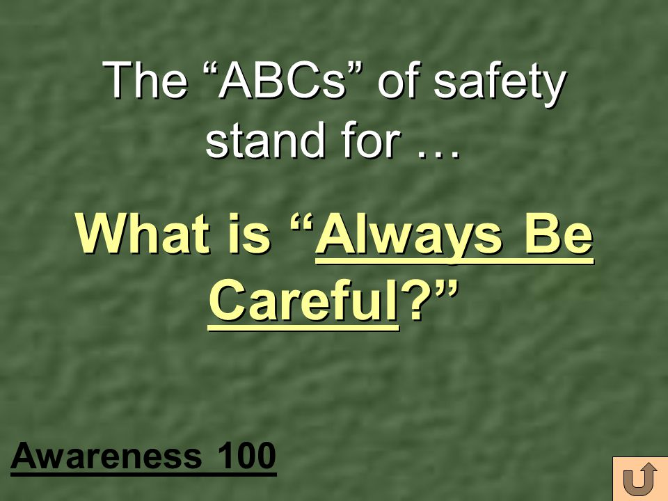 The ABCs of safety stand for …
