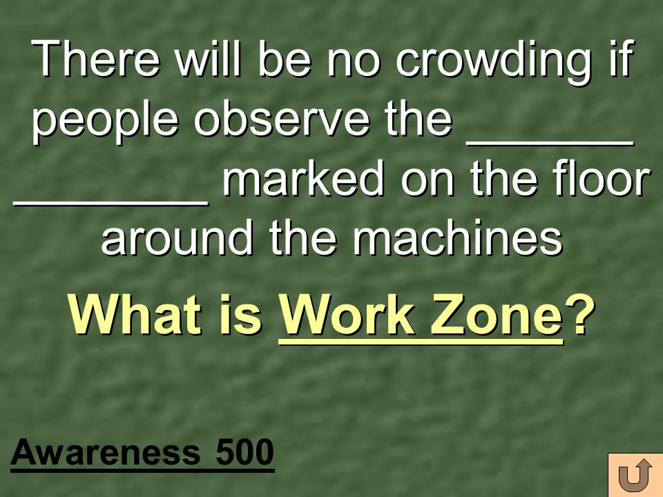 There will be no crowding if people observe the ______ _______ marked on the floor around the machines