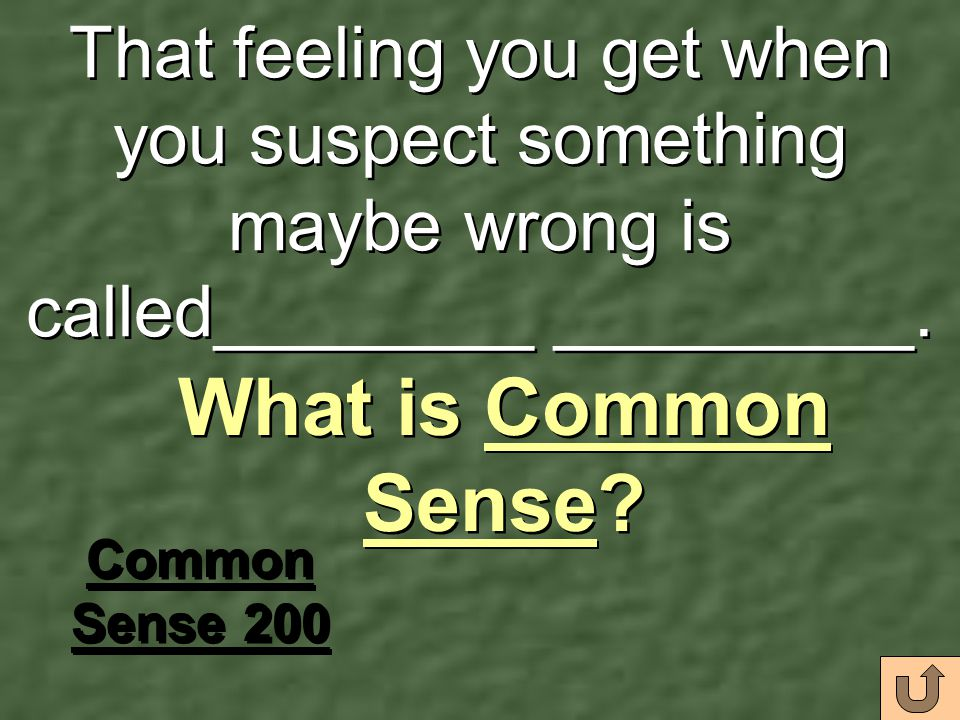 That feeling you get when you suspect something maybe wrong is called________ _________.