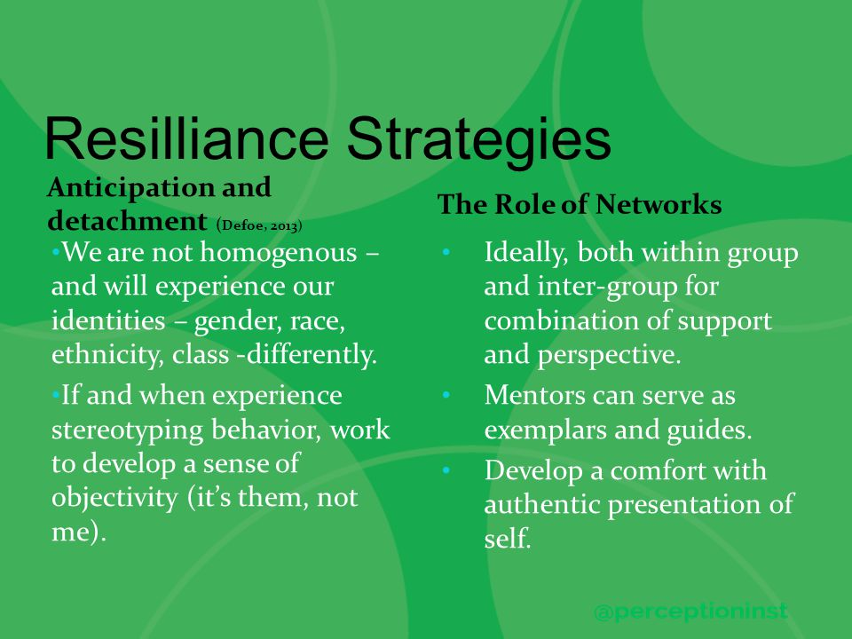 Resilliance Strategies