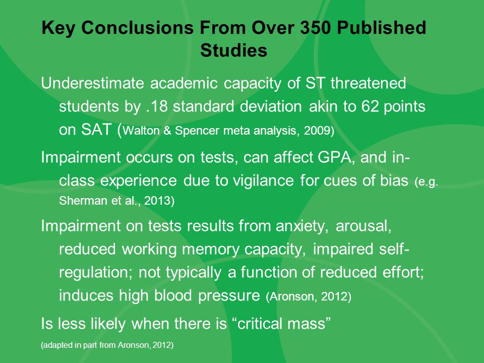 Key Conclusions From Over 350 Published Studies