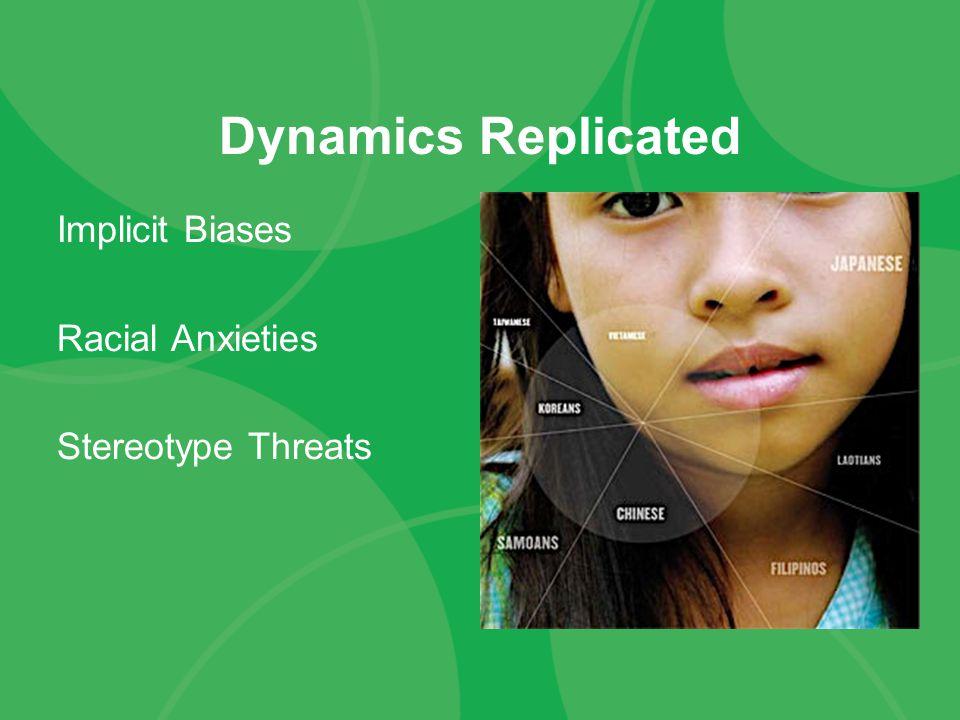 Dynamics Replicated Implicit Biases Racial Anxieties