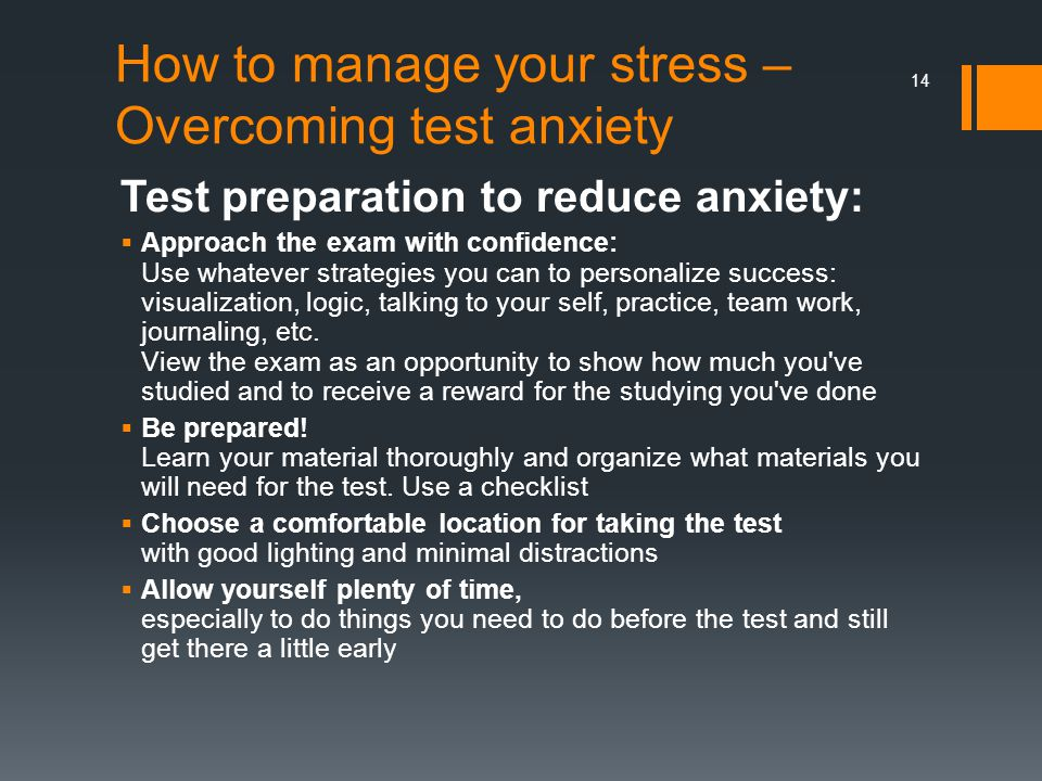 How to manage your stress – Overcoming test anxiety