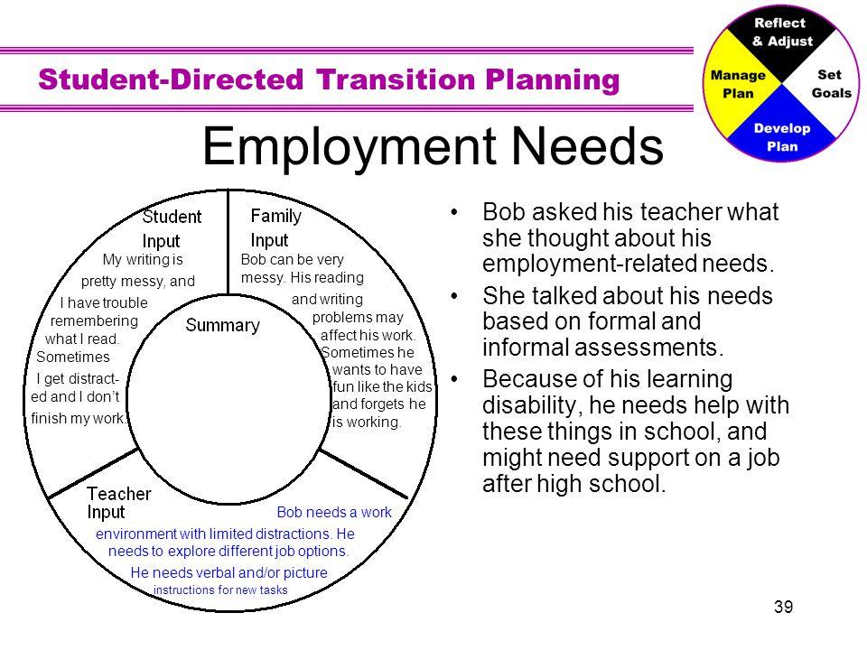 Employment Needs - Summary