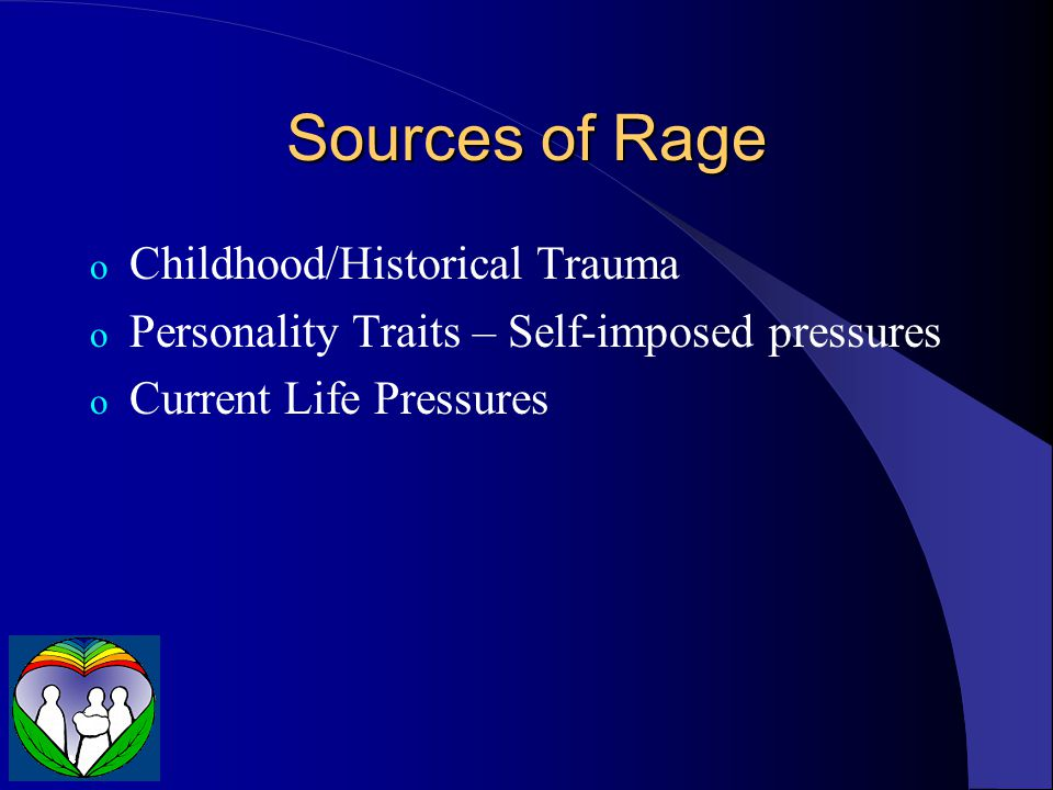Sources of Rage Childhood/Historical Trauma
